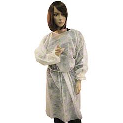 Impact® White Polypropylene Isolation Gown