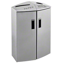 Rubbermaid® Element 2 Stream Paper/Trash Recycling Station