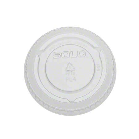 Solo® Plastic Souffle Portion Cup No Slot Lid - Clear