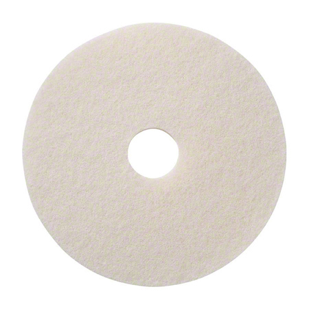 SSS® White High Luster Polishing Floor Pad - 7.75""
