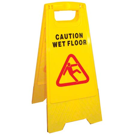 Golden Star® A-Frame Caution Sign - Yellow