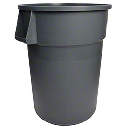 Janico Round Garbage Container - 55 Gal., Grey