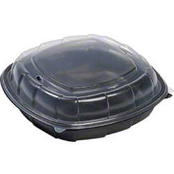 Sabert® Hot Collection Square Hinged Take-Out Container -64.2 oz