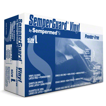 SemperGuard® Powder-Free Vinyl Gloves - Large