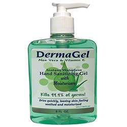 Inopak Dermagel® Waterless Hand Sanitizer w/Pump - 8 oz.