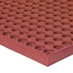 Apache Mills WorkStep™ Grease-Resistant Red Mat - 3' x 5'