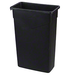 Carlisle Trimline™ Waste Container - 23 Gal., Black