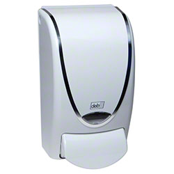 Deb® ProLine® Curve 1 L Dispenser - White w/Chrome Trim