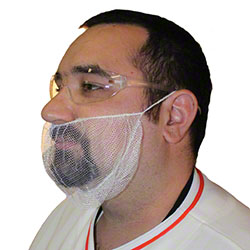 Impact® White Beard Cover - One Size Fits All
