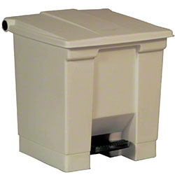 Rubbermaid® Step-On Can - 8 Gal., Beige