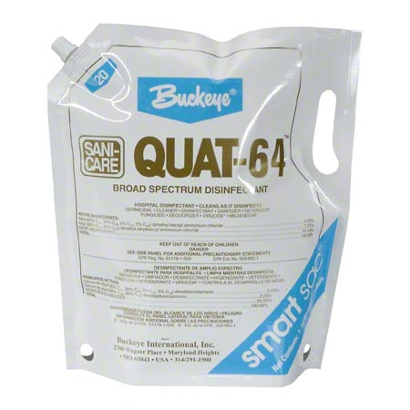 Buckeye® Quat-64™ Cleaner/Disinfectant - Smart Sac
