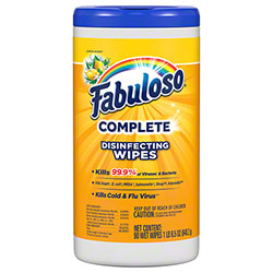 Fabuloso® Complete Disinfecting Wipe - 90 ct. Canister, Citrus/Lemon