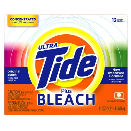 P&G Ultra Tide® Powder Laundry Detergent w/Bleach - 21 oz.