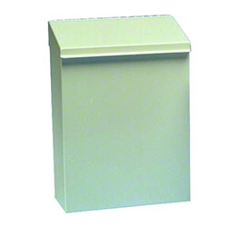 Health Guards® White Metal Sanitary Napkin Receptacle