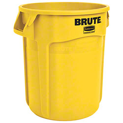 Rubbermaid® BRUTE® Vented Container - 20 Gal, Yellow
