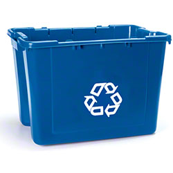 "Rubbermaid® Recycling Box w/""We Recycle"" Symbol"