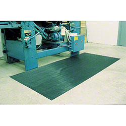 Crown Corrugated Rubber Runner - 3' x 75', Black