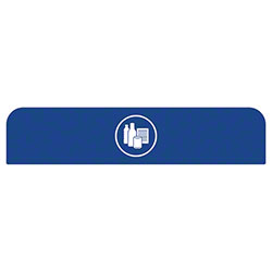 Rubbermaid® Configure™ Mixed Recycling Sign For 45 Gal. Trash Can - Blue