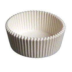 "Lapaco White Baking Cup - 4 1/2"" x 1 3/4"" x 1 3/8"""