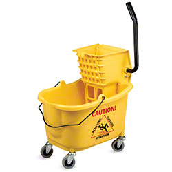 Janico Mop Bucket & Side Press Wringer Combo - Yellow