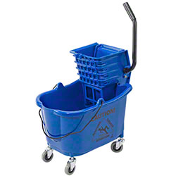 Janico Mop Bucket & Side Press Wringer Combo - Blue