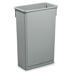 Janico Rectangular Garbage Can - 23 Gal., Grey