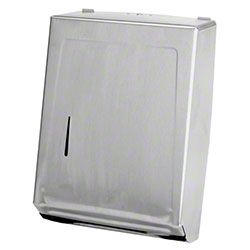 Janico Multi-Fold C-Fold Paper Towel Dispenser - Stainless
