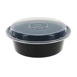 NEWSPRING® VERSAtainer® Black Round Container - 32 oz.