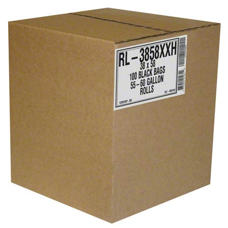 Aluf RL Low Density Coreless Roll - 30 x 36, 1.5 mil, Black