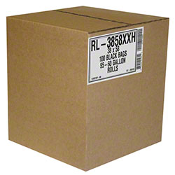 Aluf RL Low Density Coreless Roll - 38 x 58, 1.5 mil, Black