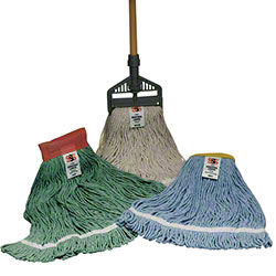"SSS® Industrial Looped Wet Mop - 5"", Natural, Large"