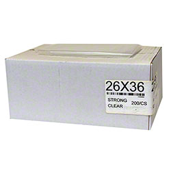 Garbage Bag - 26 x 36, Strong, Clear