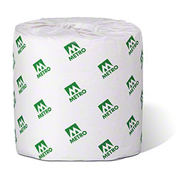 "Metro Paper 2-Ply Bathroom Tissue - 4.2"" x 3.8"""