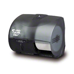 PRO-LINK® Elite™ 2 Roll Tissue Dispenser - Black Trans.