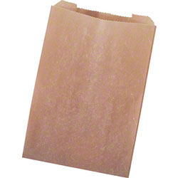 Sanitary Napkin Waxed Bag - Brown