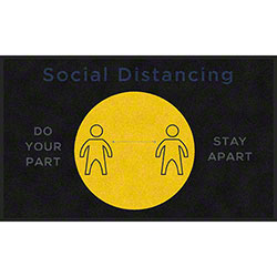 "M + A Matting ColorStar® ""Do Your Part Stay Apart"" Social Distancing Mat - 3' x 5'"