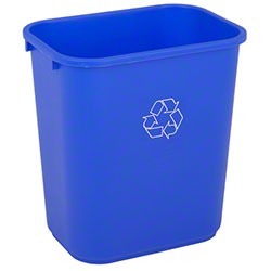 Continental Recycling Wastebasket - 28 1/8 Qt., Blue