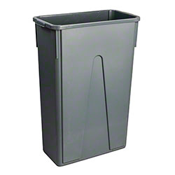 M2 Professional Slim Garbage Container - 23 Gal., Grey