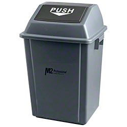 M2 Professional EZ-Push Square Waste Container w/Lid - 40L