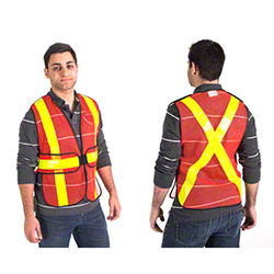 Wayne Orange Polyester Mesh 5-Point Traffic Vest