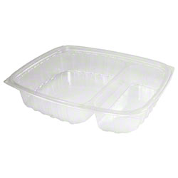 Dart® ClearPac® Container - 2 Cmpt., Clear