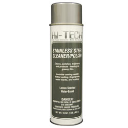 hi tech stainless steel cleaner u0026 polish 16 oz net wt