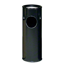 Rubbermaid® Ash/Trash Steel Receptacle - Black