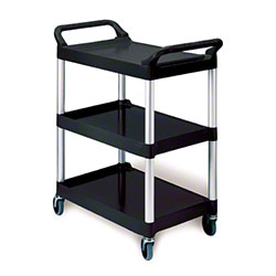 "Rubbermaid® Utility Cart w/4"" Casters - Black"