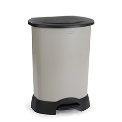 Rubbermaid® Step-On Container - 30 Gal., Lt. Platinum