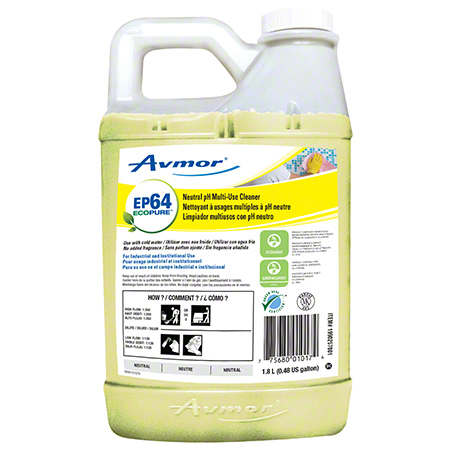 Avmor® EcoPure™ EP64 Neutral pH Multi-Use Cleaner - 1.8 L