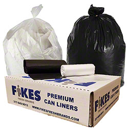 Fikes Premium Can Liner - 43 x 48, 17 mic, Natural