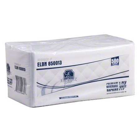 "Empress Elite Premium 1 Ply Beverage Napkin - 9"" x 9"""