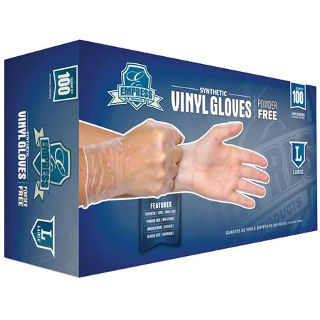 Empress™ Vinyl Powder Free Glove - Large