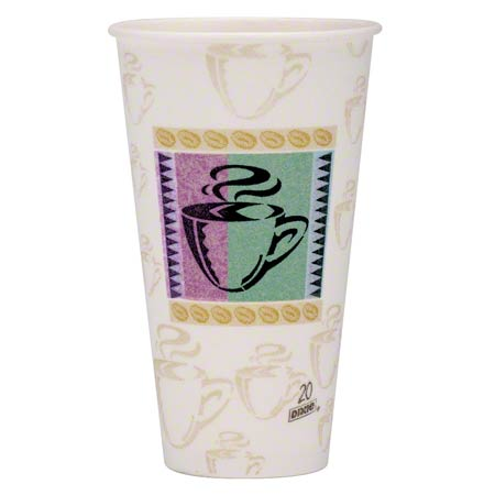 Dixie® PerfecTouch™ Coffee Haze Paper Hot Cup - 20 oz.